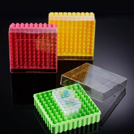 CRYO pudełko z PC (poliweglanowe) na krioprobówki i probówki Eppendorf 25x1.5ml/2.0ml, -196ºC to 121ºC, BIOLOGIX, 20szt